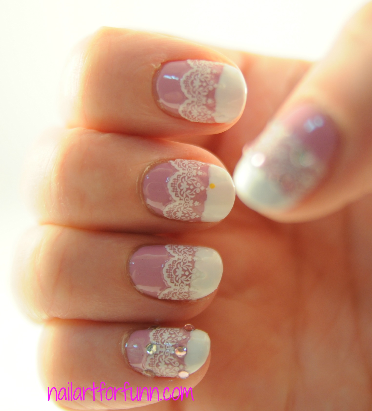Lilac Leather | Nailart for funn!