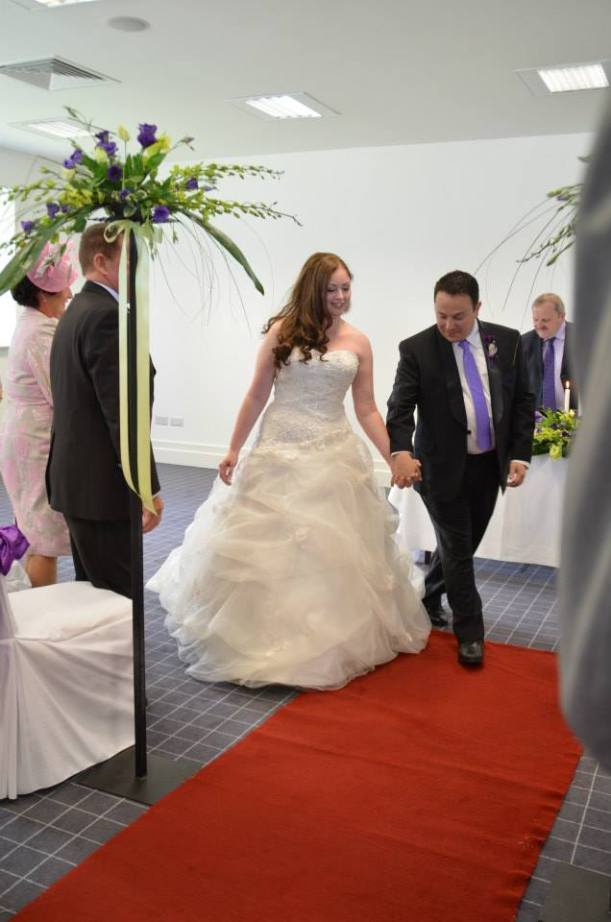 Walking down the aisle July 30th 2013